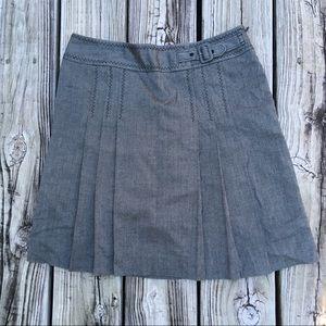 Loft Skirt size 2P front pleats lined